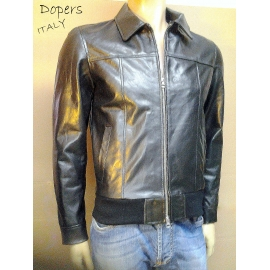 Leather jacket for men model GeorgeNeck Bomber
