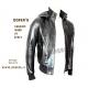 Leather jacket for men Model Bomber George Cap