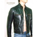 Leather jacket for men model Pitt