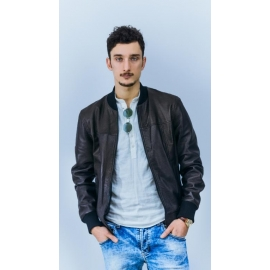 Leather jacket for men model Zac