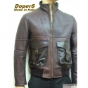 Leather jacket for men model Moscow