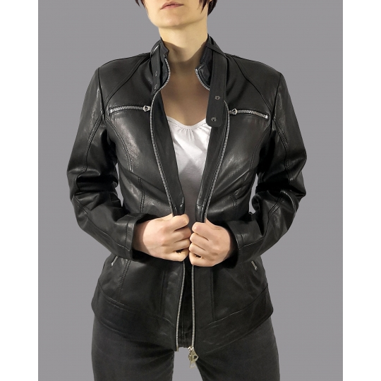 Leather jacket for women model Annabella