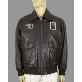 Leather jacket for men model Aviatore Italiano (italian aviator)