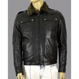 Genuine leather jacket for men model Bucarest,