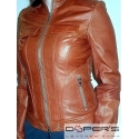 Leather jacket for women model Mary J.