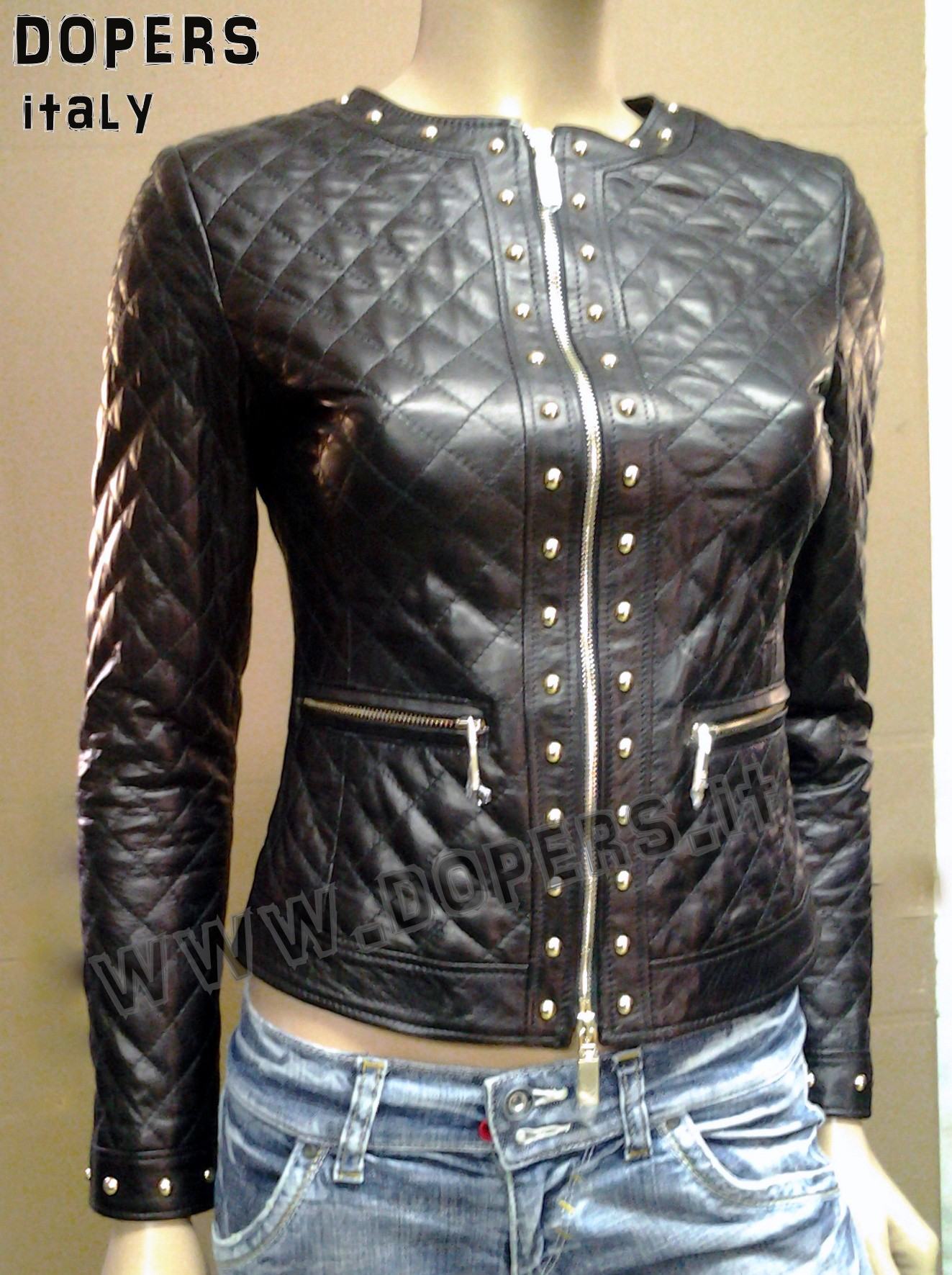 on sale bd8a2 c53d4 Giacca in pelle donna modello Lory