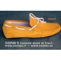 Genuine leather shoes Model Moccasin Vinci mustard
