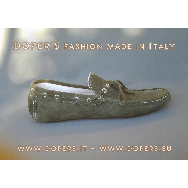 Scarpe in vera pelle Modello Mocassino Vinci Verde