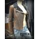 Giacca in Pelle Shearling Donna Modello Chiodo  X145