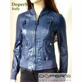 Leather jacket for women model Bomber Sarah