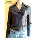 Leather jacket for women, model chiodo NICKY
