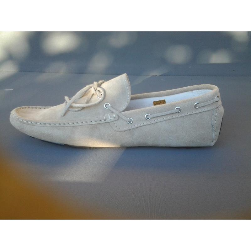 Scarpe in vera pelle Modello Mocassino Vinci  Beige