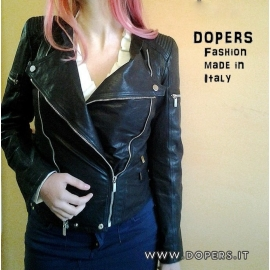 Genuine leather jacket for women, model Sally