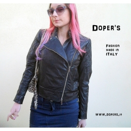 Leather jacket for women model Gaia