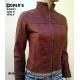 Leather jacket for women model Iris