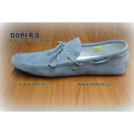 Real Leather Shoes Model Vinci Grey Mocassin
