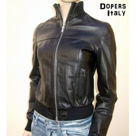 Leather Jacket Woman Model SOLE D100