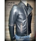 Leather jacket for men mod Harlem