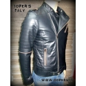 Leather jacket for men model Harlem