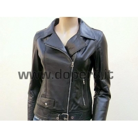 Leather jacket for women model Chiodo Susy