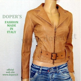 Genuine leather jacket for women model Christel