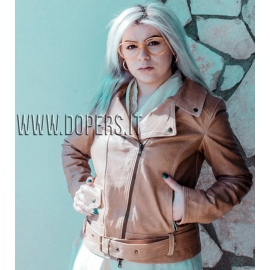 Leather jacket for women chiodo model Mara