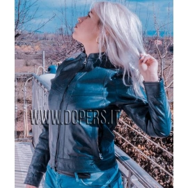 Leather jacket for women model Helen