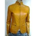 Leather jacket model Emily