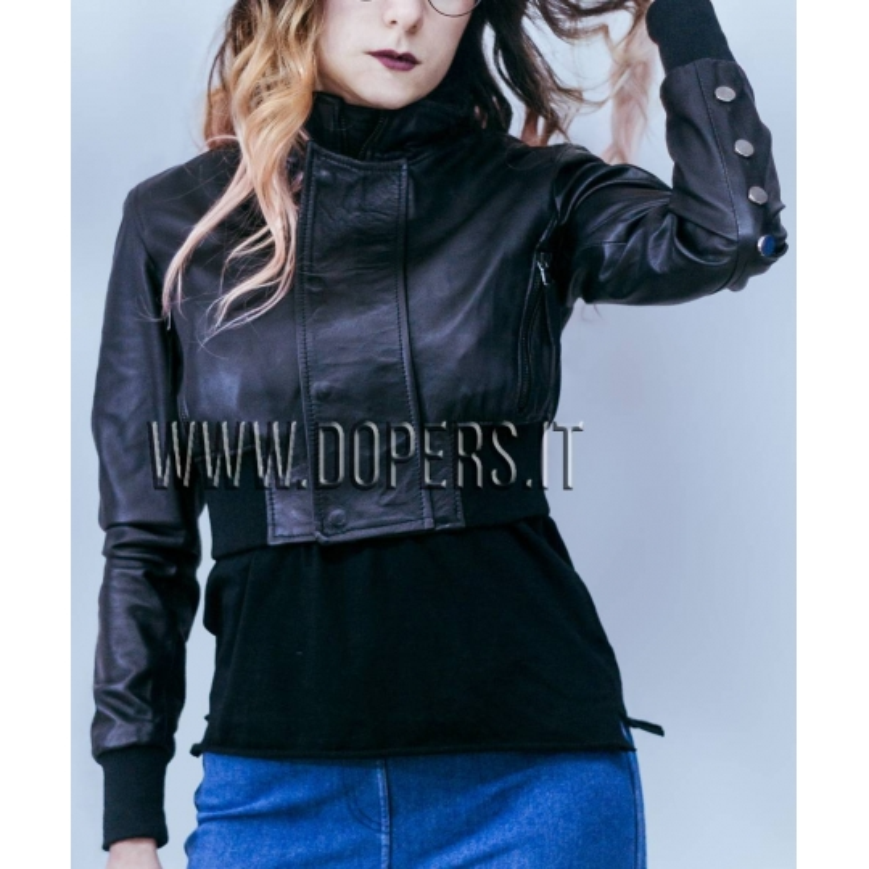 online retailer c964f 200ba Giubbotto in pelle Donna Modello America - DoperS Fashion Made in Italy