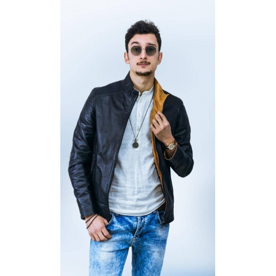 Leather jacket for men Model Kevin