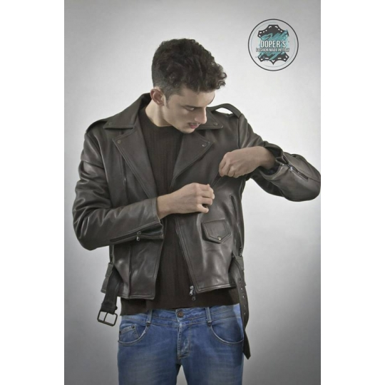 Leather jacket for men Model Varian