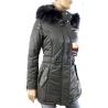 Cappotto in pelle tessuto e pelliccia modello Minoux